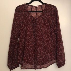 Old Navy Sheer Floral Blouse